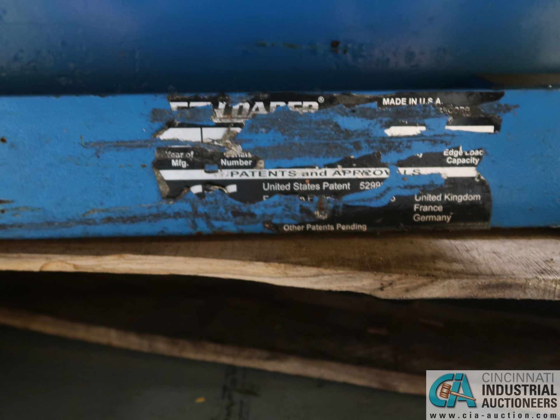 "48"" X 48"" X 3,000 LB CAP BISHAMON MODEL EX-30 ROTATING SCISSOR LIFT TABLE *$25.00 RIGGING FEE - Image 2 of 2"