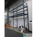 """SECTIONS 48"""" X 108"""" X 16' HIGH TEAR DROP ADJUSTABLE BEAM PALLET RACK WITH WIRE DECKING, (4)"""