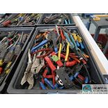 (LOT) MISC. PLIERS, WIRE CUTTERS, RETAINING RING & WIRE CRIMPERS