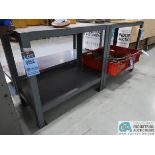 """(1) 36"""" X 72"""" X 34"""" HIGH & (2) 17-1/2"""" X 36"""" X 32-1/2"""" HIGH LITTLE GIANT STEEL TABLES ** DELAYED"""