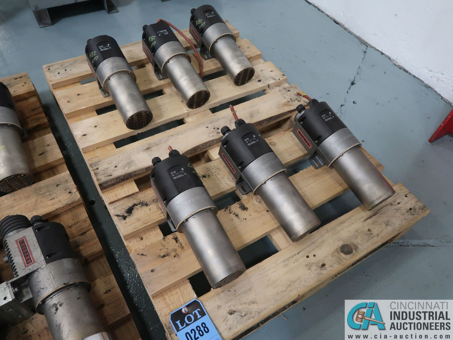 Lot 288 - 11 KW LEISTER BLOWER MOTORS *$25.00 RIGGING FEE DUE TO INDUSTRIAL SERVICES AND SALES*