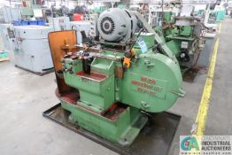 "WATERBURY FARREL NO. 20 HORIZONTAL HEAVY FRAME HAND FEED THREAD ROLLER; S/N N/A, 3/8"" THREAD DIA.,"