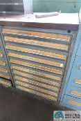 """10-DRAWER LISTA-TYPE CABINETS WITH MISC. 2-5/16"""" OPEN DIES - Loading fee due the"""