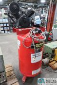 """5 HP HUSKY VERTICAL TANK AIR COMPRESSOR - Loading fee due the """"ERRA"""" Pedowitz Machinery Movers $25"""
