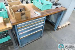 """60"""" X 30"""" 5-DRAWER LISTA BENCH WITH MISC. TOOLING"""