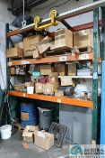 """SECTION 102"""" X 32"""" X 132"""" ADJUSTABLE BEAM PALLET RACK WITH CONTENT MISC. HEAT TREAT OVEN PARTS"""