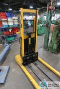 1,500 LB BIG JOE MODEL 1516-A5 ELECTRIC STACKER; S/N 355234, 12 VOLT WITH BUILT-IN CHARGER
