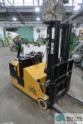 3,300 LB BIG JOE ELECTRIC WALK-BEHIND STACKER; S/N 325150301, 24 VOLT WITH BUILT-IN CHARGER