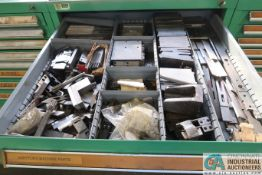7-DRAWER VIDMAR CABINET WITH MISC. HARTFORD MACHINE PARTS, STARTERS, AND TOOL PACKAGES - Loading