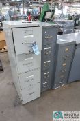 FILE CABINETS WITH MISC. BOLT, RIVET & SCREW DRIVES