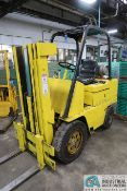 5,000 LB CATERPILLAR MODEL V50C LP GAS SOLID PNEUMATIC TIRE LIFT TRUCK; S/N 02Y00427, 3-STAGE