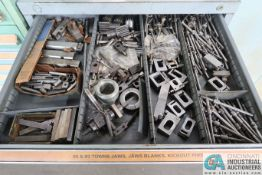11-DRAWER LISTA-TYPE CABINET WITH TOWNSEND TOOLING, SPRINGS, BELTING AND MISC. TOOLING