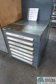 6-DRAWER LISTA-TYPE CABINET WITH MISC. SAW BLADES AND TOOLING - Loading fee due