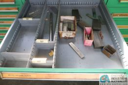 """7-DRAWER VIDMAR CABINET WITH MISC. TOOL PACKAGES, CHAMFER DIES, TOOLS - Loading fee due the """"ERRA"""""""