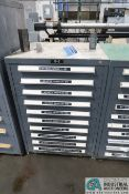 10-DRAWER HARDWARE CABINET WITH HOLE GAGES AND PENETRATION/FALLAWAY GAGES - Loading fee due