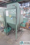 UNI-BLAST SPRAY BLAST CABINET WITH DUST COLLECTOR, SET UP FOR ALUMINUM OXCIDE MEDIA - Loading