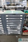 "10-DRAWER HARDWARE CABINET WITH THREAD GAGES, PLUG AND SLOT GAGES - Loading fee due the ""ERRA"""