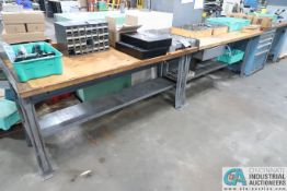 """72"""" X 30"""" STEEL FRAME/ WOOD TOP BENCHES"""