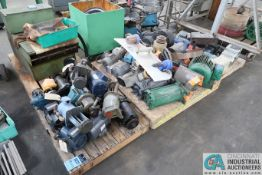 "SKIDS MISC. USED MOTORS, 1/4 - 15 HP - Loading fee due the ""ERRA"" Pedowitz Machinery Movers"