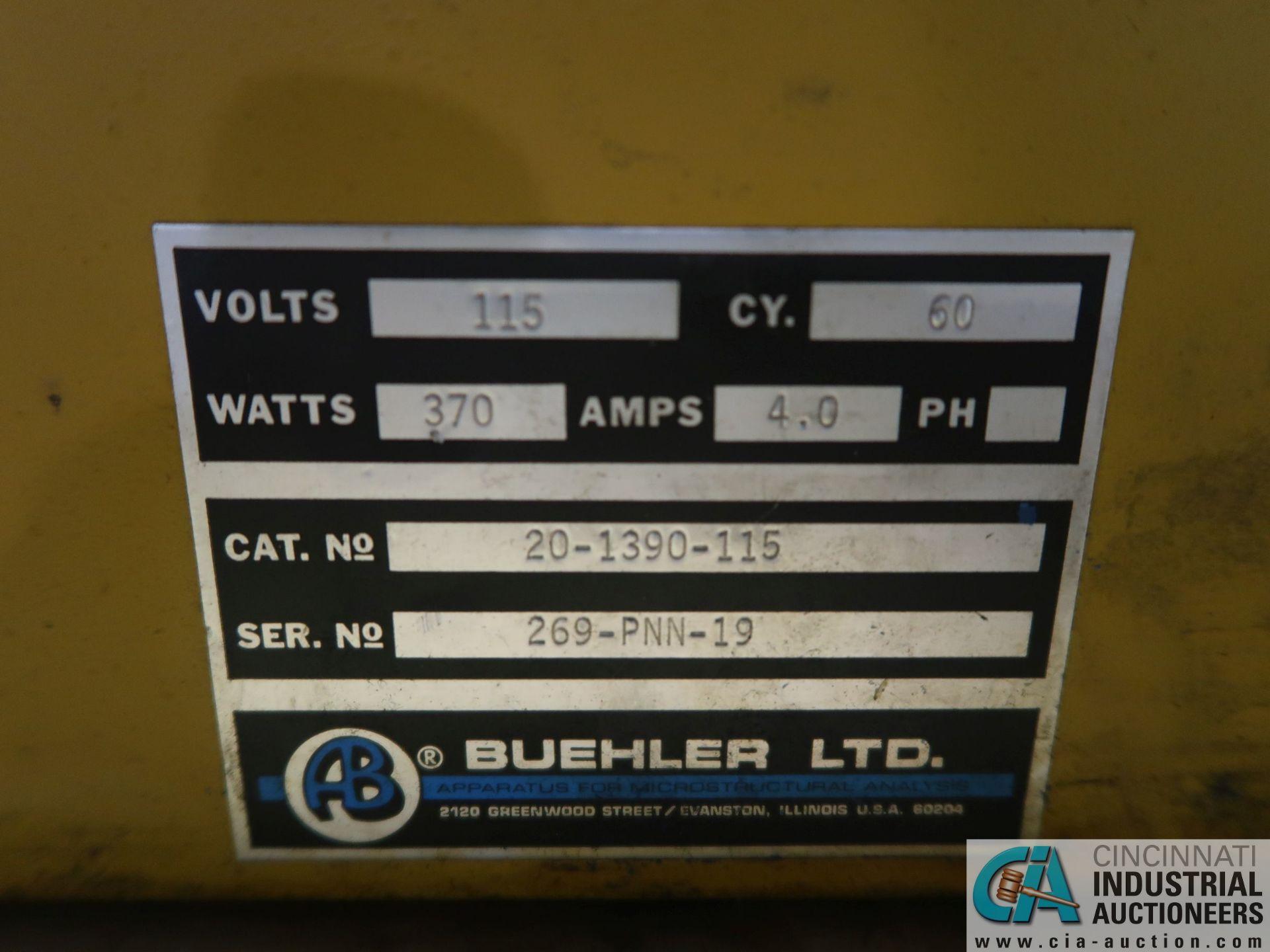 Lot 54 - BUEHLER PNEUMET I MODEL 20-1390-115 MOUNTING PRESS; S/N 269-PNN-19, WITH MODEL 20-2223 WORKHEAD,