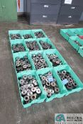 (LOT) ASSORTED FORGING PRESS DIES IN 12 GREEN TOTES