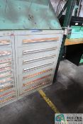 7-DRAWER CABINET WITH MAINTENANCE ITEMS - BEARINGS, SPRINGS AND OTHER TOOLING