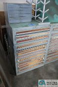 12-DRAWER CABINET WITH TAPS, REAMERS, DRILLS AND OTHER TOOLING