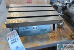 """(LOT) 10"""" X 15"""" T-SLOTTED TABLE AND V-BLOCK"""