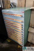 12-DRAWER TOOLING CABINET WITH REAMERS, MARDRELS AND OTHER TOOLROOM ACCESSORIES