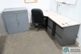 (LOT) ASSORTED CABINETS AND DESKS