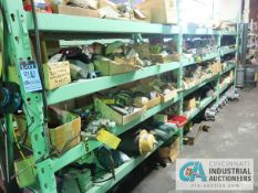 CONTENTS OF (5) RACKS INCLUDING MISCELLANEOUS PRESSURE VALVES, CYLINDERS, REGULATORS, CONTROL VALVES
