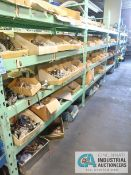 CONTENTS OF (5) RACKS INCLUDING MISCELLANEOUS TAPE MOTORS, HOBBY MOTORS, STEPPER MOTOR **NO RACKS**