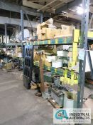 (LOT) CONTENTS OF (3) SECTIONS RACK - ROBBINS AND MEYER HOIST (PARTS ONLY), ASSORTED MACHINE PARTS