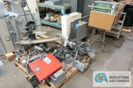 (LOT) SKID WITH WIRE, CADWELL CALIBRATION UNIT, PSYCHROMETRIC ENCLOSURE, CART WITH VACUUM CANISTERS
