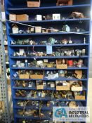 CONTENTS OF BLUE SHELF UNIT APPROX. (100) FRACTIONAL MOTORS - BOTH SIDE OF SHELF