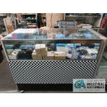 """48"""" X 22"""" X 29"""" LIGHTED GLASS DISPLAY CABINET"""