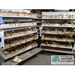 CONTENTS (8) DISPLAY RACKS INCLUDING LED DISPLAYS, LAMP HOLDERS, ZIP TIES, CAPACITORS, CABLES,