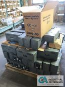 SKIDS INCLUDING BATTERY BACKUPS, RADIO/TV TUBE TESTER, COPIERS