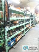 CONTENTS OF (5) RACKS INCLUDING MISCELLANEOUS PNEUMATIC CYLINDERS **NO RACKS**