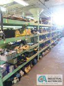 CONTENTS OF (6) RACKS INCLUDING MISCELLANEOUS PNEUMATIC CYLINDERS AND CONTROL VALVES **NO RACKS**