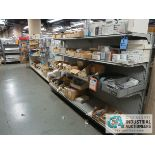 (LOT) CONTENTS OF DISPLAY RACKS INCLUDING TELEPHONES, CABLE, PRINTERS, USB, ADAPTERS, JACKS, CABLES,