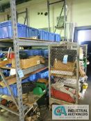 (LOT) CONTENTS OF (1) RACK AND (1) CART INCLUDING MISCELLANEOUS METAL SUPPORTS AND FRAMES **NO