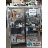 PORTABLE SHOWCASE WITH SECURITY CAMERAS, LENS, CONTROLS, VIDEO CASSETE RECORDERS
