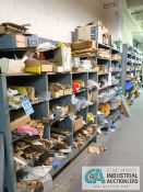 CONTENTS OF (7) SHELVES INCLUDING MISCELLANEOUS BRACKETS, CLAMPS, HINGES **NO SHELVES**