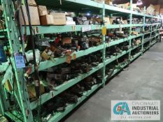 CONTENTS OF (6) RACKS INCLUDING MISCELLANEOUS PNEUMATIC CYLINDERS **NO RACKS**