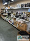 (LOT) CONTENTS OF DISPLAY RACKS INCLUDING TONERS, CELL PHONE HOLDERS AND CASES, PRINTER CABLES,