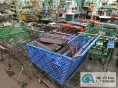 (LOT) MISCELLANEOUS GROCERY CARTS AND TOTES