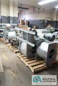 (LOT) (3) SKIDS WITH (6) BLOWER UNITS - 2 AND 5 HP MOTORS