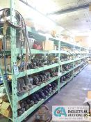 CONTENTS OF (6) RACKS INCLUDING MISCELLANEOUS PILLOW BLOCK BEARINGS, BEARINGS, SEALS, GASKETS,