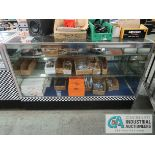 """60"""" X 22"""" X 29"""" LIGHTED GLASS DISPLAY CABINET"""